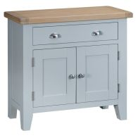 See more information about the Lighthouse Oak 2 Door 1 Drawer Small Sideboard Grey